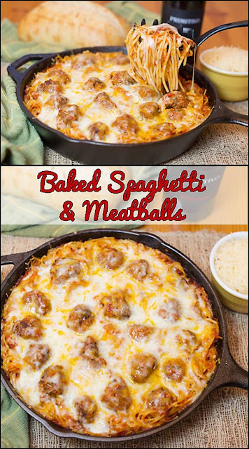The Perfect Baked Spaghetti & Meatballs