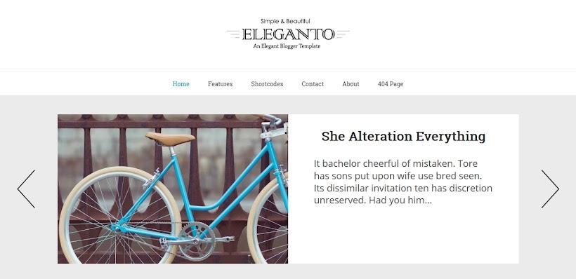 Eleganto Free Blogger Template