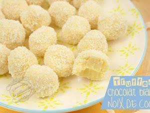 Truffes faciles chocolat blanc et noix de coco