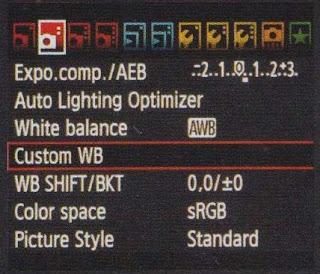 Langkah langkah cara mengatur Custom White Balance