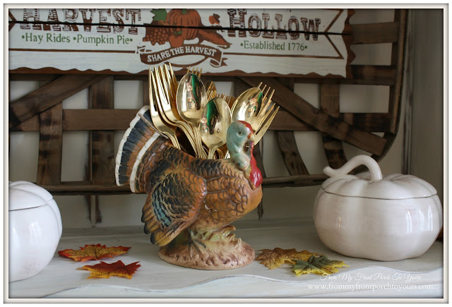 Vintage Turkey-Farmhouse -Thanksgiving- Fall- Dining Room-From My Front Porch To Yours
