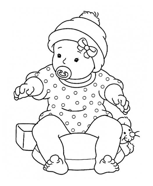 Gambar Mewarnai Bayi - 6