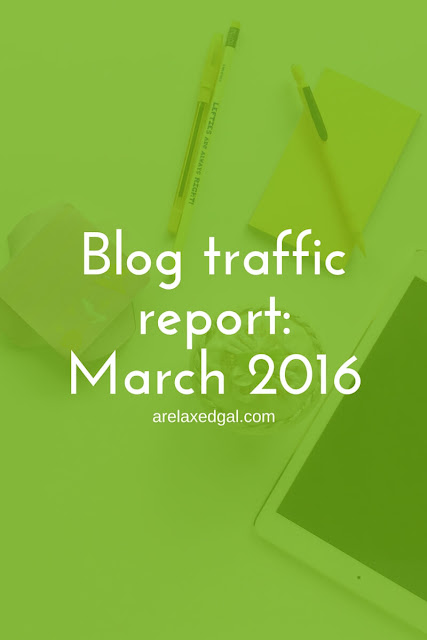 March 2016 blog traffic report | arelaxedgal.com