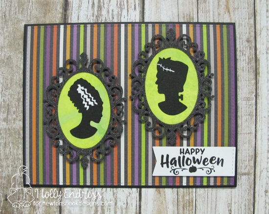 Halloween card by Holly Endress | Creepy Cameos Halloween Stamp Set and Cameo Frame Die Set by Newton's Nook Designs #newtonsnook #handmade