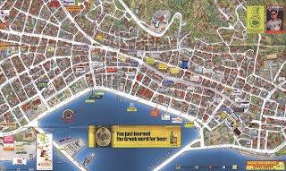 Mapa de Zakyntos Town.