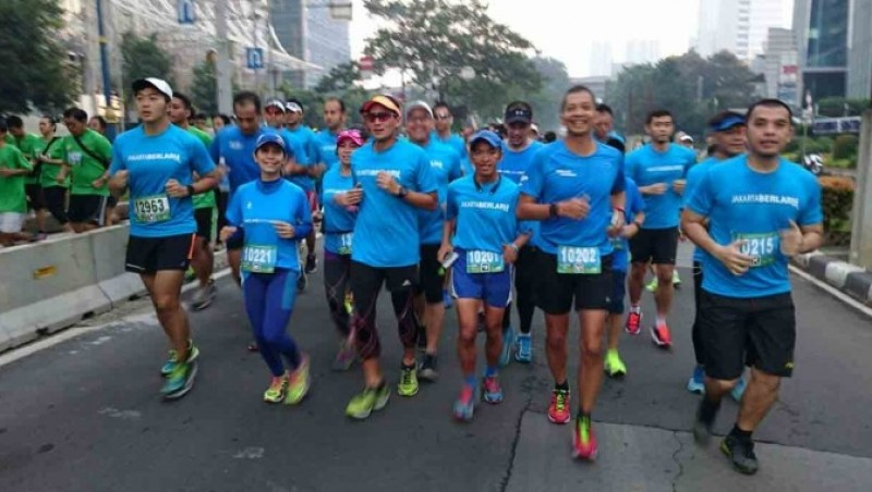 Sandiaga Uno mengikuti Jakarta International 10K 2016