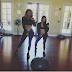 @kourtneykardash & @khloekardashian show off the perfect results of their fitness routine