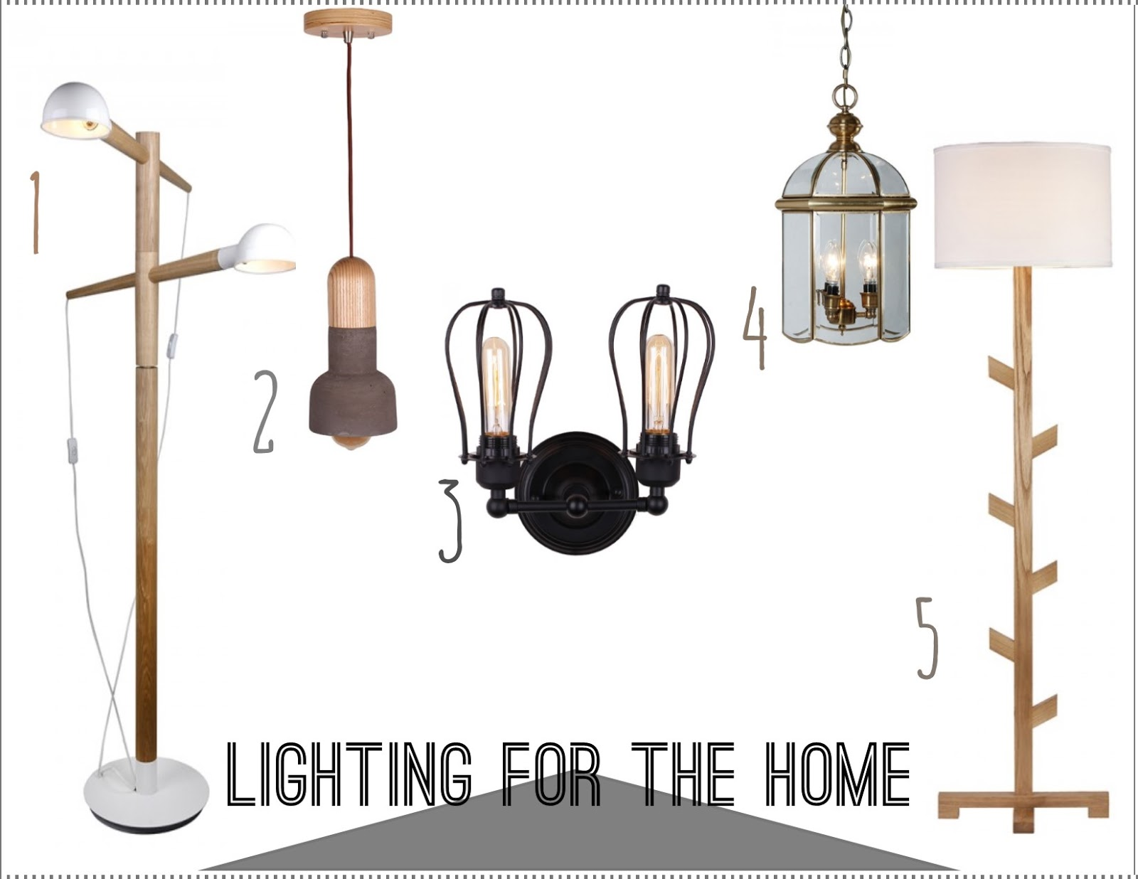 Two Lights Modern Style Wooden Floor Lamp In Street Shape 2 Electric Torch Shade Pendant Light 3
