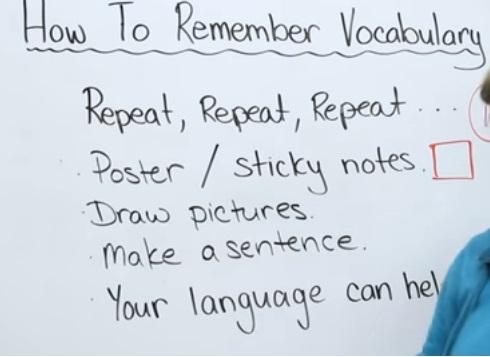 فيديو : 5 طرق تجعلك تتذكر كلمات اللغة الانجليزية لا تنساها ابدا , مترجمة الى اللغة العربية How to Remember Vocabulary