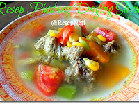 Resep Pindang Daging Sayuran ( Vegetables Meat Stew Recipe )