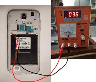 Cara cek dan analisa kerusakan hp android dengan power supply