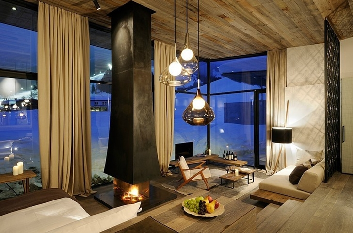 modern living room of Boutique Hotel, Austria