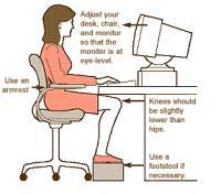 Posizione Corretta Ufficio.Come Sedersi Davanti Al Computer Per Non Stancare Schiena E