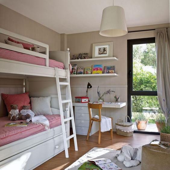 20 ideas asombrosas para habitaciones peque as para dos - Habitaciones pequenas ninos ...