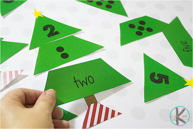 Free Christmas Tree Count To 20 Puzzles Kindergarten Worksheets