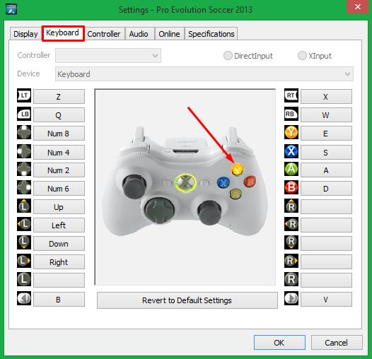 Cara Mengatur Setting Controller PES pada Keyboard 3