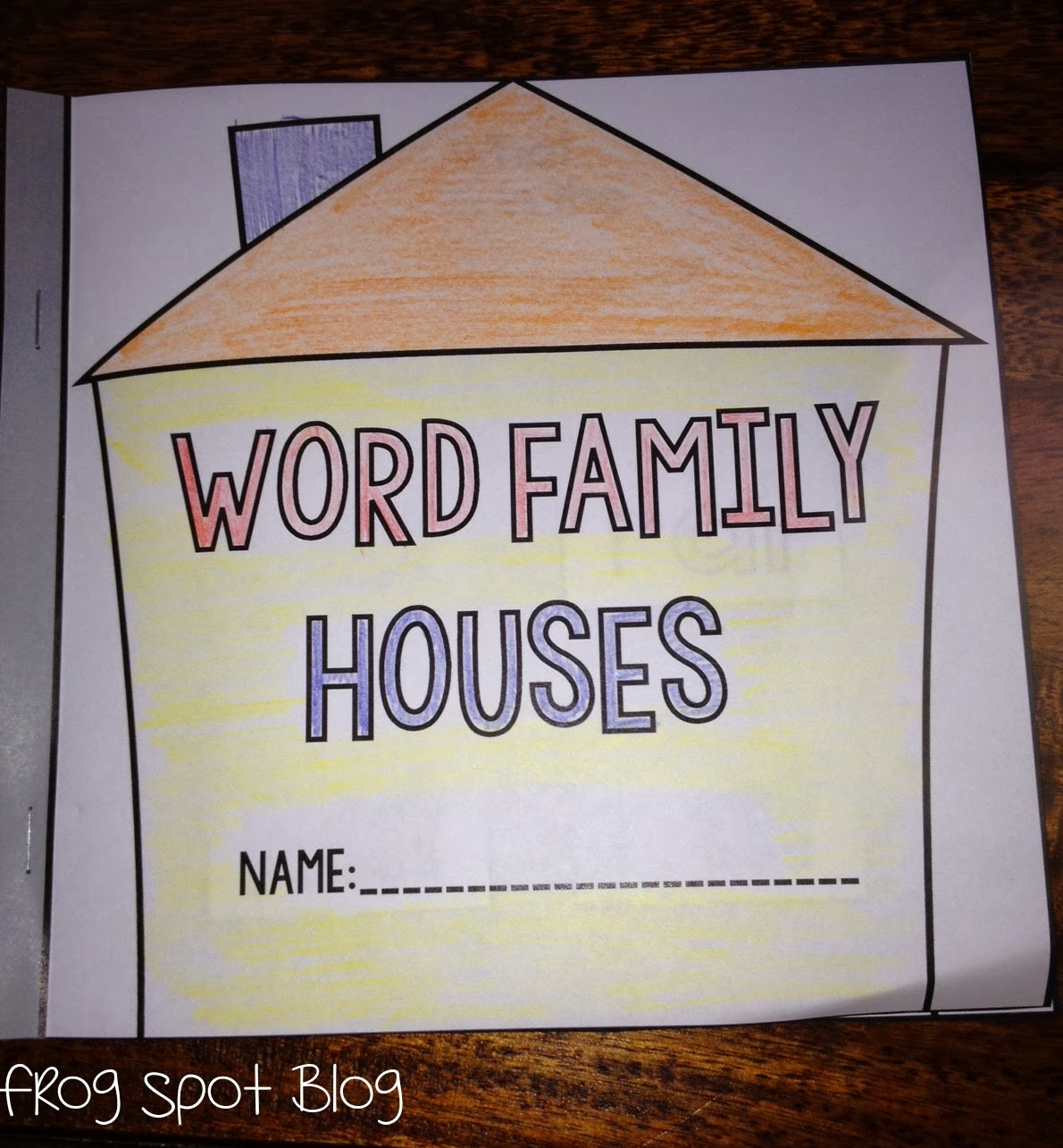 New 989 Word Family House Worksheet