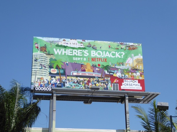 BoJack Horseman season 4 Wheres Wally spoof billboard