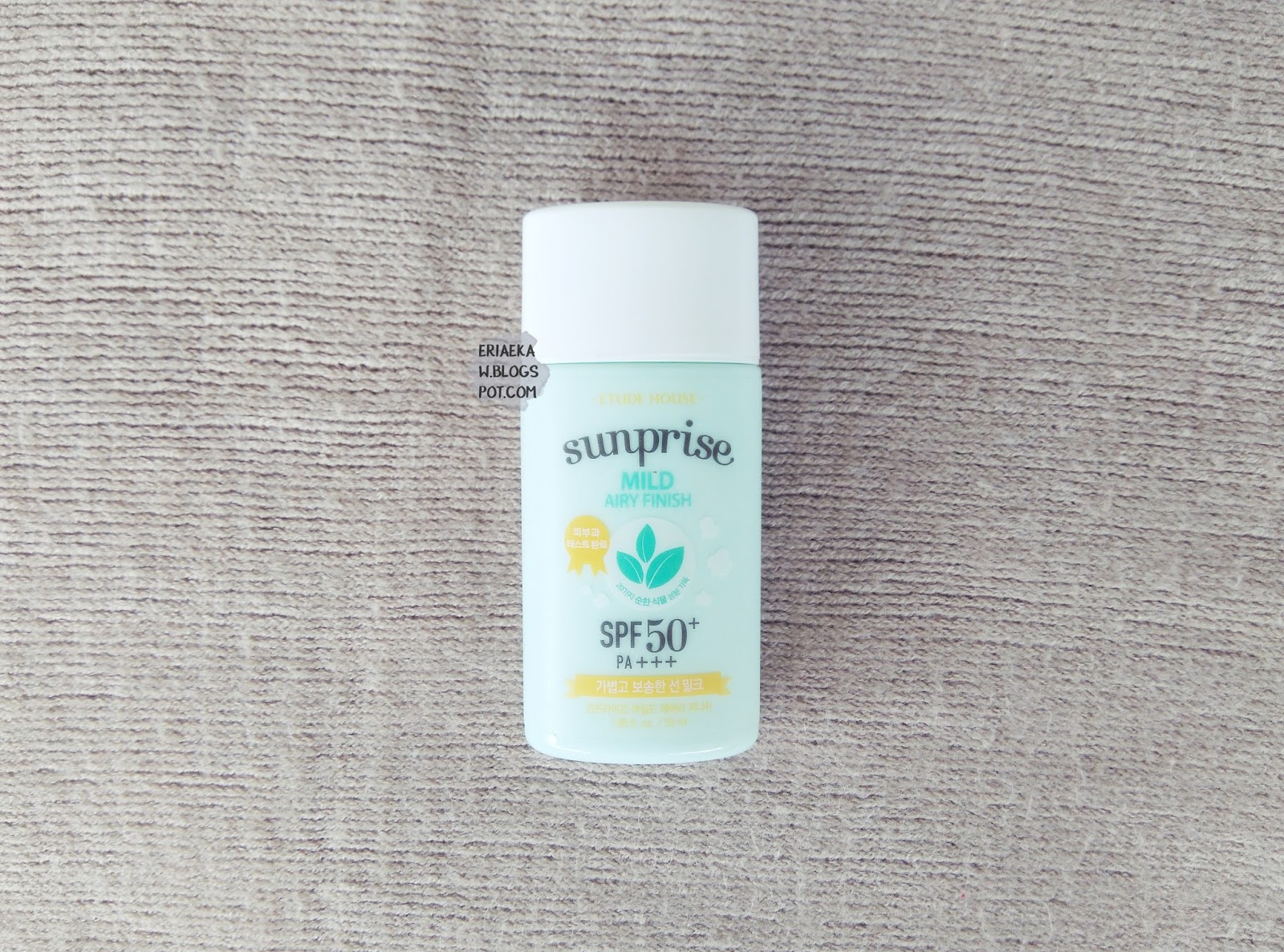 REVIEW Etude House Sunprise Mild Airy Finish SPF 50+ PA+++