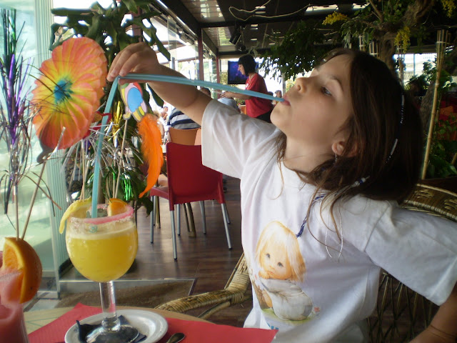 child drinking cocktail