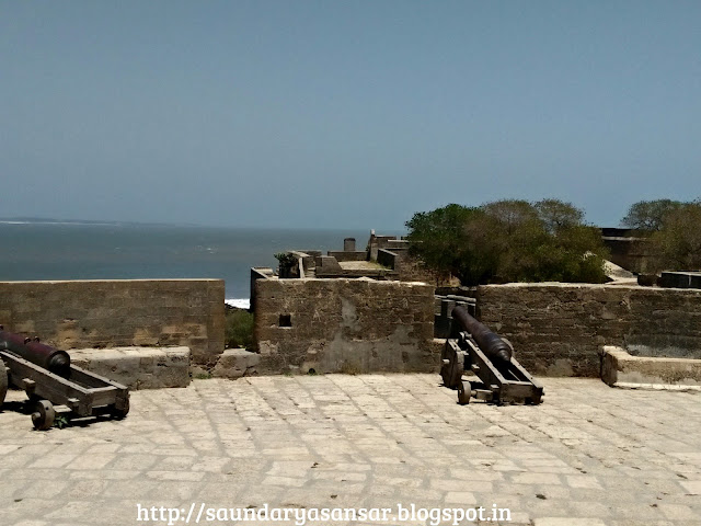 Roof top View of Diu Fort