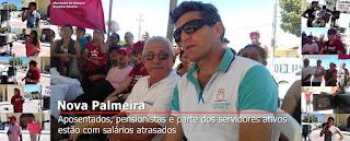 Servidores da prefeitura de Nova Palmeira realiza ato contra atrasos de salariais