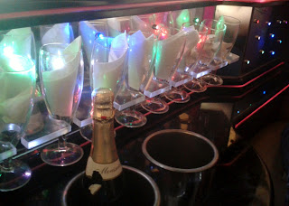 Fizz in the limo, Karen's Hen Night