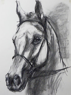 contemporary equestrian art, abstract equine artist, fine art horse painting