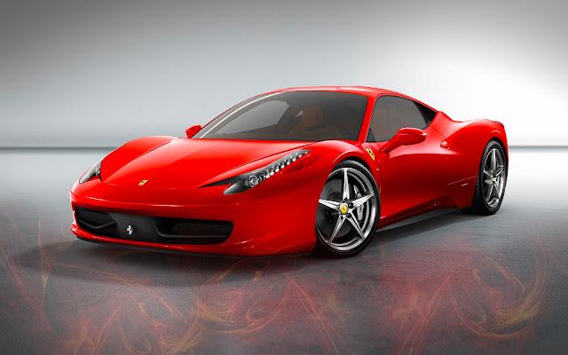 Ferrari rojo de lujo