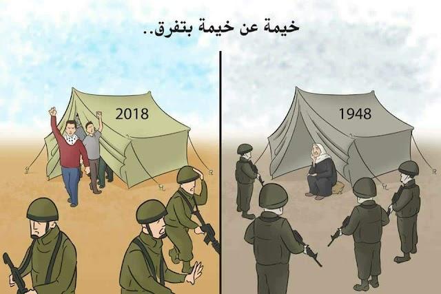 #مسيرات_العودة_الكبرى ترعب الكيان الصهيوني المحتل
