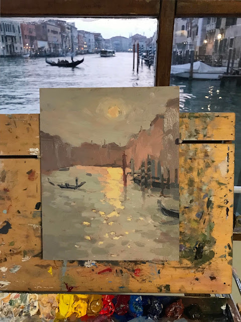#239 'Sunset, the Grand Canal' 8×10″