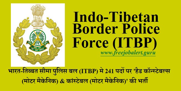 Indo-Tibetan Border Police Force, ITBP, Ministry of Home Affairs, Force, Force Recruitment, ITBP Recruitment, 10th, Head Constable, Constable, Latest Jobs, Hot Jobs, itbp logo