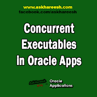 Concurrent Executables in Oracle Apps, www.askhareesh.com