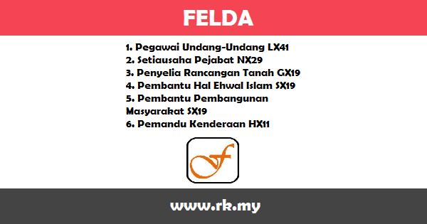 Jobs in Lembaga Kemajuan Tanah Persekutuan (FELDA) (27 Ogos 2017)