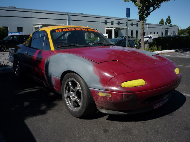 Mazda Miata Racer getting body repairs at Almost Everything Auto Body