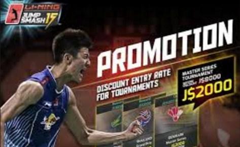 Game Lining Jump Smash 15 Badminton Mod Apk + Data