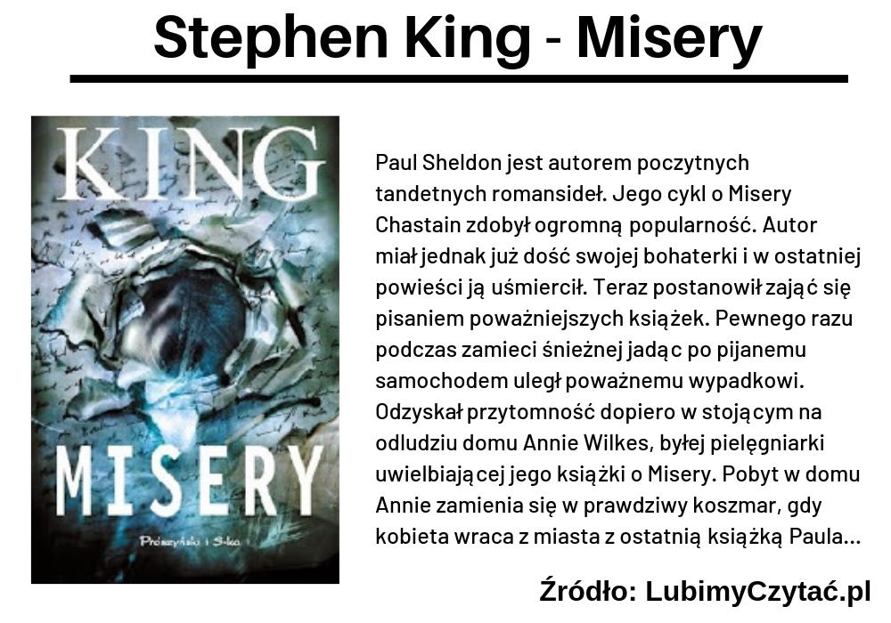 Stephen King, Misery, TOP 5, Marzenie Literackie