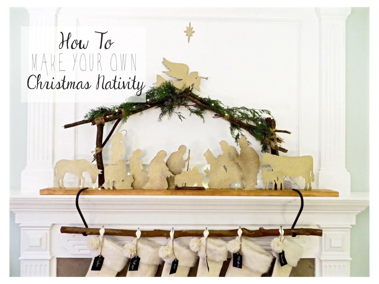 The Project Lady Diy Tutorial For Making A Silhouette Christmas