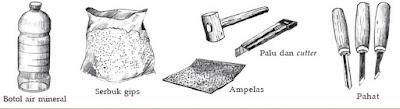 Patung Gips- Bahan dan Teknik Cara Membuat Patung (Gypsum)