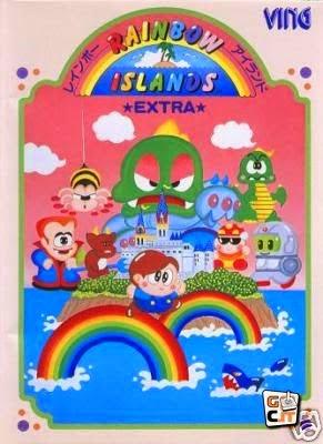 Rainbow Island: Rhe story the Bubble Bobble 2+arcade+game+portable+art+flyer