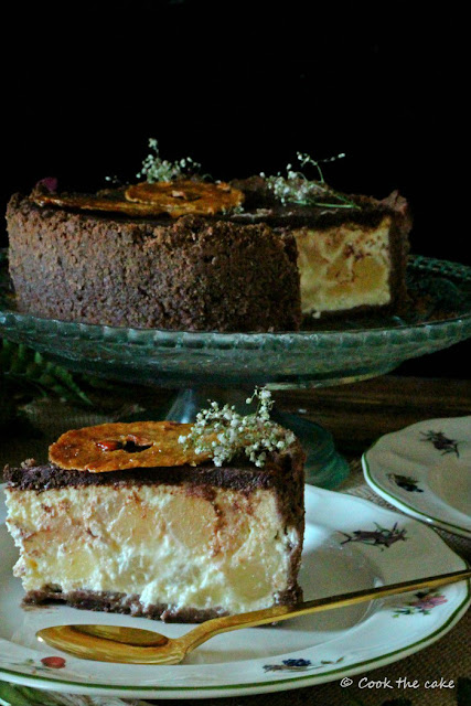 chocolate-ricotta-and-pear-tart, tarta-de-chocolate-peras-y-requeson