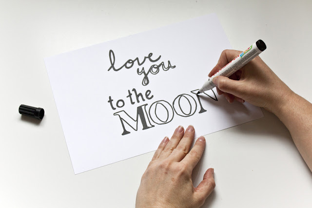 lettering moon