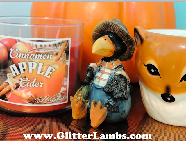 Here is my Cinnamon Apple Cider candle that I picked up from Walmart for only $4.93 too. Love me some Fall Candles!!!!