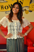 Eesha in a cute deep neck top and Skirt at at Big FM 090.JPG