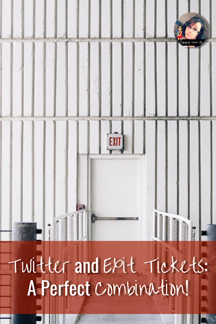 Use the concept of Twitter to collect Exit Tickets from Middle School Students. #socialstudies #exittickets #activities #twitter