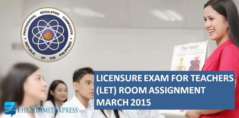 Room Assignment March 2015 LET Teachers Board Exam