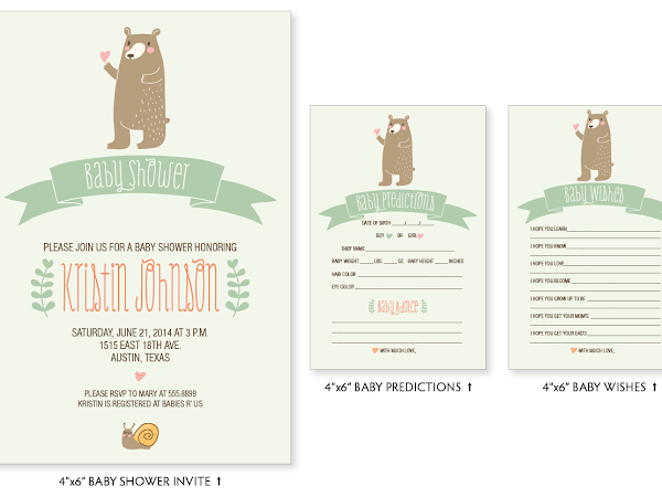 Kristin's Whimsical Woodland Baby Shower Invitations