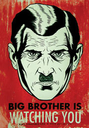 "George Orwell,""1984"" Big brother"