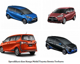 Spesifikasi dan Harga Mobil Toyota Sienta Terbaru