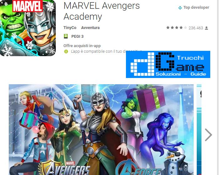 Trucchi MARVEL Avengers Academy Mod Apk Android v1.8.1